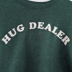 Mighty Fine Tops - Mighty Fine Hug Dealer Varsity Stripe Sweatshirt